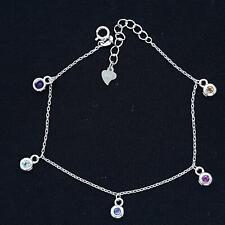 World Class .35ctw Multi-Color Sapphire 925 Sterling Silver Bracelet