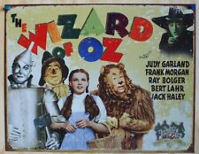 Wizard Of Oz Tin Metal sign Movie Poster Tin Man Dorothy Scarecrow Lion Toto F30