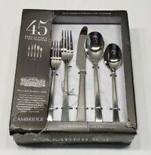 Cambridge Julie Satin 45 Piece Stainless Steel Flatware Set, Service for 8
