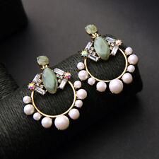 Geometric Trendy Earrings Christmas Simulated Pearls Jewelry Big Earrings 1 Pair