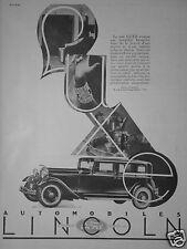 PUBLICITÉ 1931 AUTOMOBILES LINCOLN FORD FORDSON - ADVERTISING