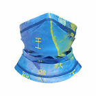 Women Men Sun Shield Face Ear Cover Mask Scarf with Ancient Chinese Characters