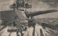 18269/ Künstler AK, Wacht in der Nordsee,  Marine Schiffspost, 1916