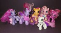 6 Rare - G3 My Little Pony MLP Brushable Rare Horse Bundle Lot Era 2008 Ponies `