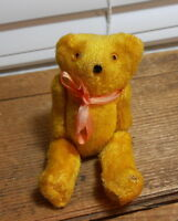Vintage Small Japan Teddy Bear, jointed, Glass Eyes