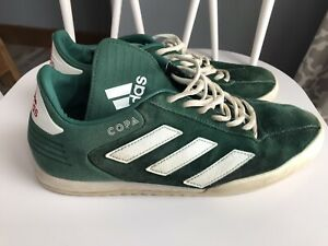 Adidas Mens Copa Super Green White Running Shoes Lace Up Low Top Size 9