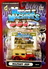 Muscle Machines MILITARY JEEP  CANDY RED #02-91