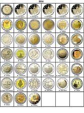 TOUTES LES PAYS DISPONIBLES ANNÉES 2016 - 2 Euros Commemorative - NOUVEAU UNC