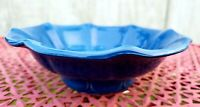 Vintage Real McCoy Pottery Wash Basin / Bowl Blue USA POTTERY