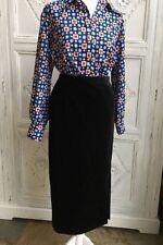 Calf Length Straight, Pencil Regular Velvet Skirts for Women