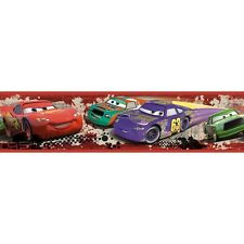 DISNEY CARS Wall Sticker Border LIGHTNING MCQUEEN Room Decor PISTON CUP Racing