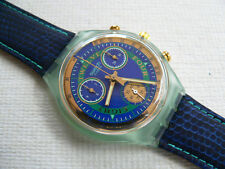 1994 Swiss Swatch Watch Chronograph Hitch Hiker New