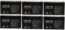 UPG 6 Pack - 6VOLT 12AMP DEEP-CYCLE RECHARGEABLE SEALED ENERGY STORAGE BATTERY 1