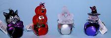 Roman Jingle Buddies bell assortment, Halloween witch, ghost, pumpkin, black cat