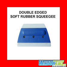 DOUBLE EDGED RUBBER SQUEEGEE CAR WINDOW TINTING TINT FILM FITTING TOOL