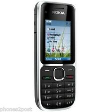 Nokia C2-01 Black 3G Easy To Use Mobile Phone Sim Free Unlocked - UK SELLER