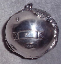 H&H Hand Hammer Limited Edition Sterling Precious Planet Xmas Ornament Pendant