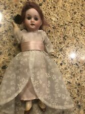 Antique Steiner 7� Bisque Doll, Composition Body, Glass Eyes Open Mouth Germany