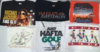 Lot Of (6) Mens Vintage T Shirt Size L 90s Harley Davidson Concert Band Sports