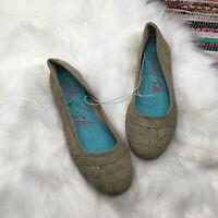 Blowfish Womens Gilti Woven Toe Slip On Ballet Flats US 7.5 Tan Brown NWOT