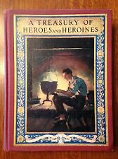 """Vintage Antique Book """"Treasury of Heroes and Heroines"""" by Edwards- 1st Ed-1920"""