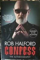 HALFORD - CONFESS SIGNED COPY ENGLISH BOOK  LIBRO IN INGLESE JUDAS PRIEST FIGHT