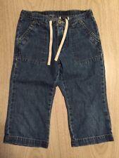 6 - Girls' - GAP - Blue Denim Capri/ Cropped Jeans - 100% COTTON - Medium Wash