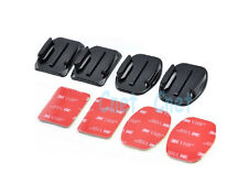 2 Flat Mount + 2 Curved Mount with 3M VHB Adhesive Pad for GoPro HERO Camera