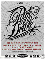 "Parkway Drive / Miss May 1 ""North American Tour"" 2015 Portland Concert Poster"