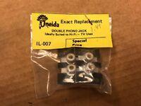 2 NOS Double RCA Jacks Phono for Tube Amplifier Console Amp Rebuild