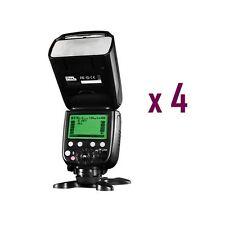 4 x Pixel X800C Pro Version Lightweight HSS GN60 Flash Speedlite for Canon DSLR