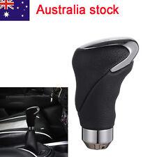 Auto Genuine Leather Car Manual Shift Knob Gear Head Shifter Stick Handle Black