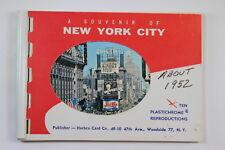 Souvenir New York City Small 10 Postcard Booklet Herbco Card Co Circa 1952