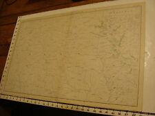 1890's Vintage CIVIL WAR MAP: plate CLVIII Gen Topo part of TEXAS, LOUISIANA