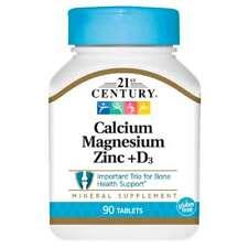 21st Century Calcium Magnesium Zinc + D3 90 Tabs