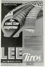 1918 Lee Tire & Rubber Co. Print Ad - The Cord Tire Supreme Feb 1918