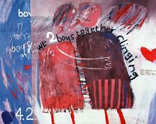 "DAVID HOCKNEY BOOK PLATE PRINT ""WE TWO BOYS TOGETHER CLINGING"""