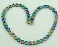 Hematite Gemstones Round Ring Spacer Loose Beads Gold 12mm 15.5'' Strand
