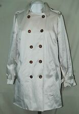 QVC JOAN RIVERS NEW CLASSIC TRENCH COAT MILITARY STYLE PRINT LINING STONE LARGE