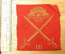 Original Military Royal Australian 3rd Infantry Division Cloth Badge (4056)