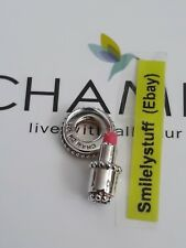 Genuine CHAMILIA 925 Silver & Enamel KISS AND TELL Pink LIPSTICK Charm RRP £40