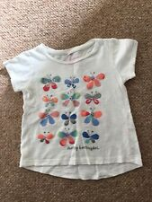 Girls Cream Butterfly T-shirt Age 2-3 Years
