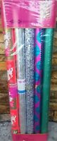 6 ROLLS VINTAGE NOS CHRISTMAS GIFT WRAPPING PAPER FOIL RETRO 1960s 37 SQ FT