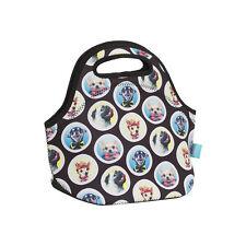 NEW Spencil Woof Dog Puppy Neoprene School Lunch Bag with zip & handles