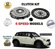 FOR BMW MINI COUNTRYMAN R60 1.6 COOPER ALL4 S D SD 2010-> 6 SPEED CLUTCH KIT