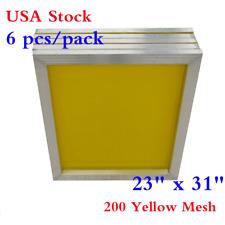 "USA 6Pcs 23"" x 31"" Aluminum Silk Screen Printing Frame With 200 Yellow Mesh"