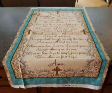 Amazing Grace Panel 23x42 Kensington Quilting Treasure Hymn Word Lyric Tan Teal