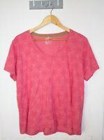 Kathmandu T-shirt Size 18 Pink Floral Print