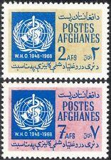 Afghanistan 1968 WHO/UN/Medical/World Health/United Nations 2v set (n29554)