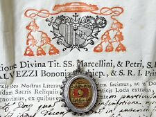 ✝ Reliquary Relic St. Augustine bishop of hippo & Doctor of the Church + Documen